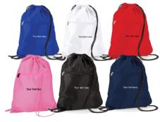 DRAWSTRING SWIMMING BAG WITH ZIPPED SIDE POCKET